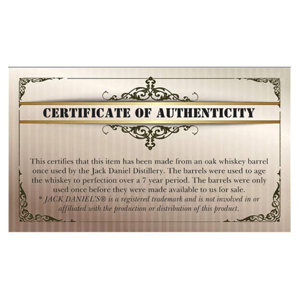 Jack Daniels Pen Blank Certificate 10pk WoodTurningz
