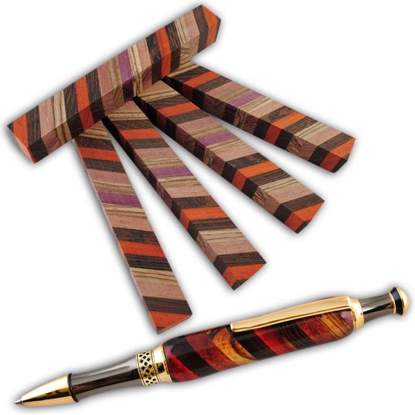 Laminated Pen Blanks ~ Laminated pen blank style woodturningz