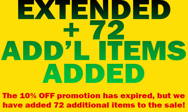 Sale Extended - Additional Items added