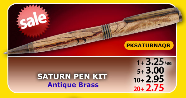 Saturn Pen Kit - Antique Brass