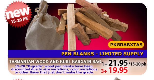 Australian Burl Pen Blank Bargain Bag