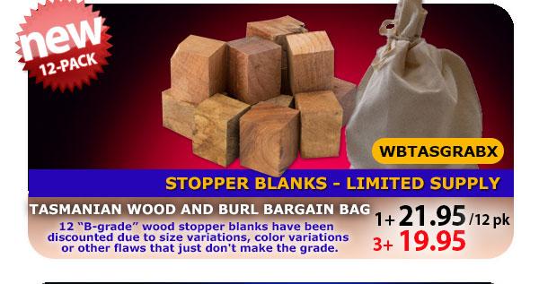 Australian Burl Stopper Blank Bargain Bag