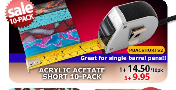 Acrylic Acetate Short Blank 10pk