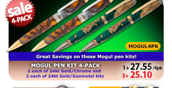 Mogul Pen Kit 4-pk
