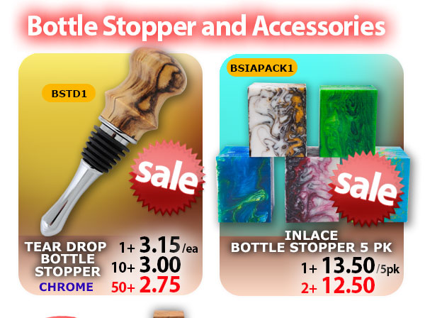 BSTD1 AND Bottle Stopper Inlace 5pk