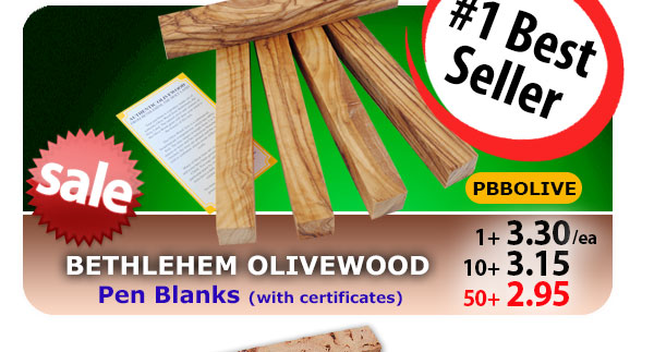 Bethlehem Olivewood Pen Blanks