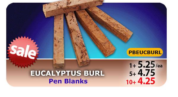 Eucalyptus Burl Pen Blanks