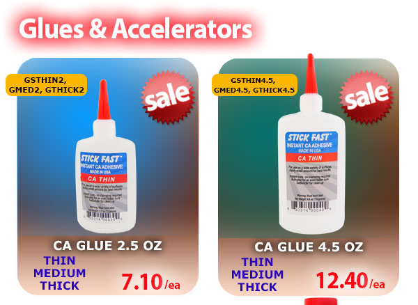 2oz and 4.5oz CA Glue on Sale!