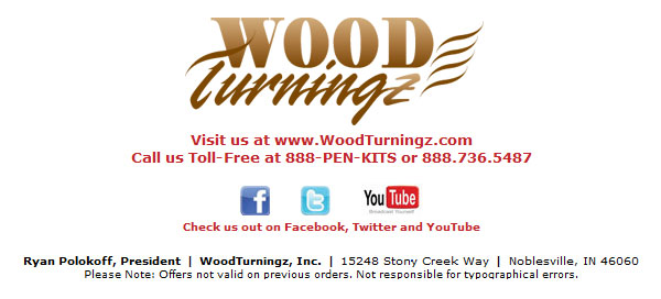Contact WoodTurningz if questions 888-736-5487