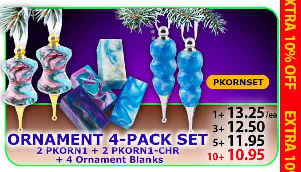 Ornament 4-pk Set