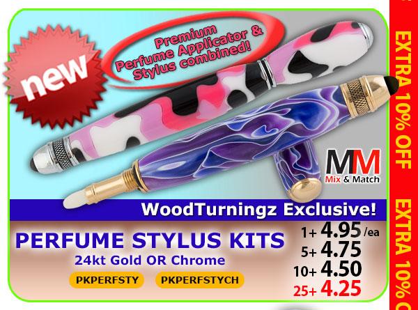 Perfume Stylus Kits 24kt Gold or Chrome