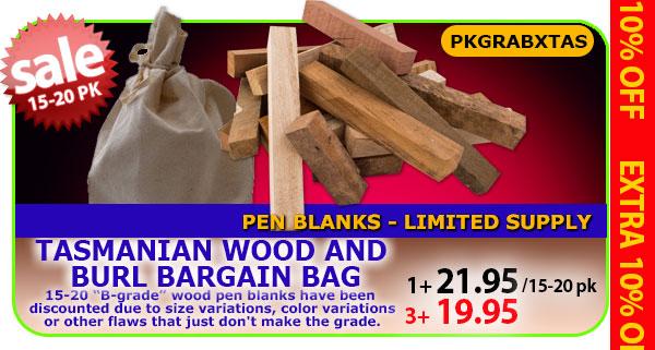 Tasmanian Wood and Burl Bargain Bag
