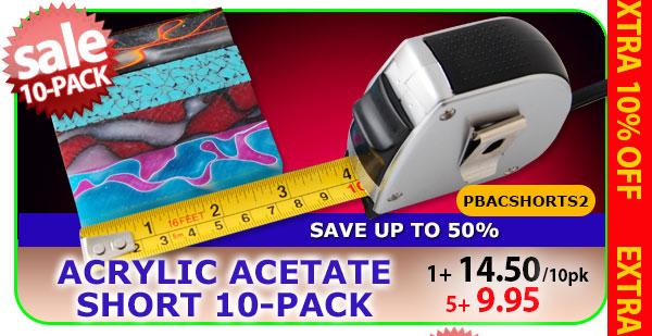 Acrylic Acetate Shorts 10 pk