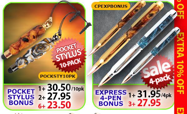 Pocket Stylus Bonus or Express 4-pen Bonus