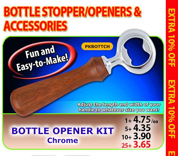 Bottle Opener Kit - Chrome