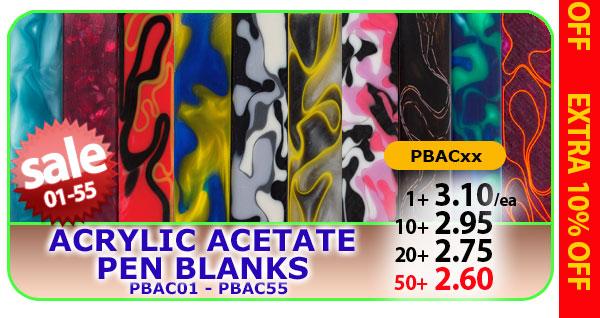 Acrylic Acetate Pen Blanks