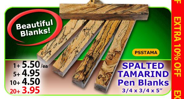 Spalted Tamarind Pen Blanks