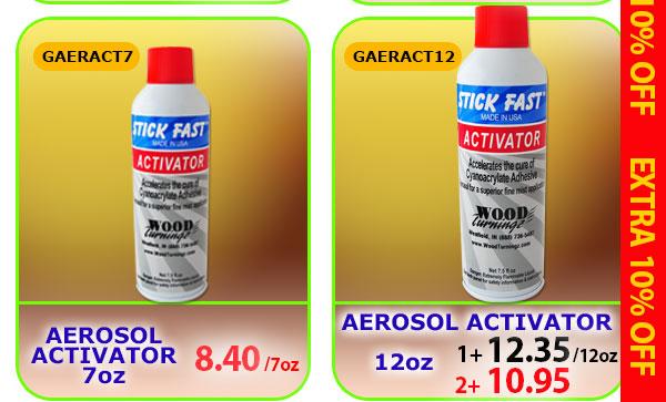 Aerosol Activators in 7 or 12 oz
