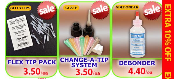 Flex Tip Pack, Change-A-Tipe System, or Debonder