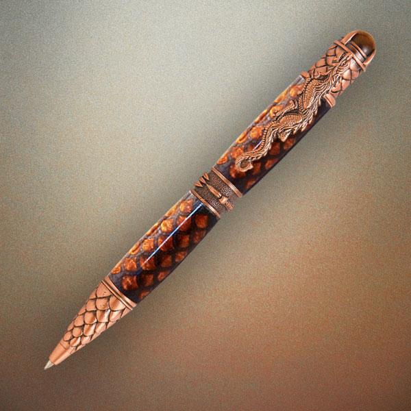 Dragon Antique Brass Twist Pen Kit